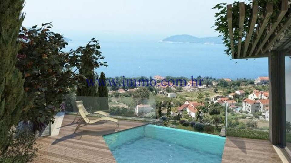 BUILDING LAND WITH THE PROJECT FOR THE CONSTRUCTION OF LUXURY VILLAS, DUBROVNIK AREA