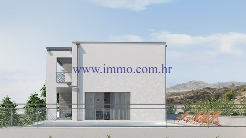 OPPORTUNITY!!! PELJEŠAC, LAND WITH THE SEA VIEW AND PROJECT FOR THE CONSTRUCTION OF VILLA