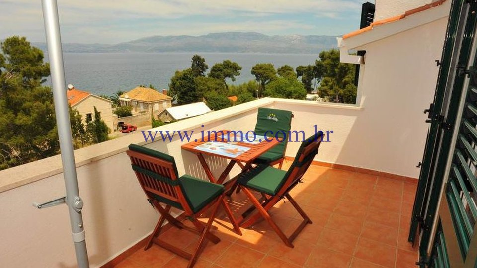 BRAČ ISLAND, VILLA WITH SIX APARTMENTS, 50 M FROM THE SEA