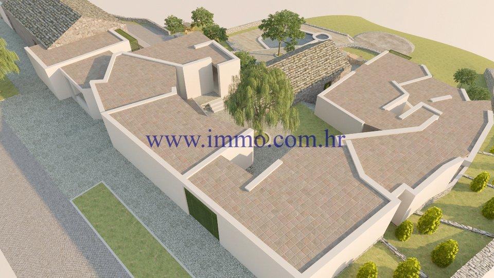VINIŠĆE, LAND WITH BUILDING PERMIT FOR SALE